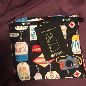 LeSportsac Simple Backpack Boarding Pass Travel